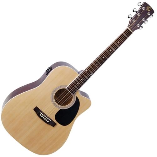 Soundsation - Yellowstone-DNCE-NT akusztikus gitár elektronikával natúr