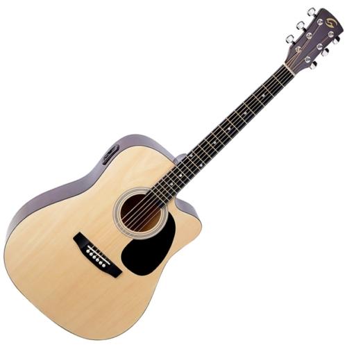 Soundsation - Yosemite-DNCE-NT akusztikus gitár elektronikával natúr