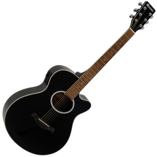 Dimavery - AW-400 Western gitár fekete, szemből
