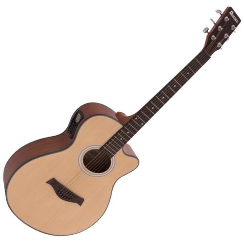 Dimavery - AW-400 Western gitár, elektronikával, hordtáskával, natúr