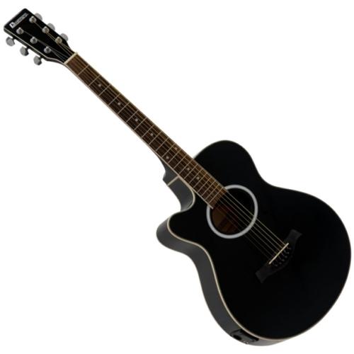 Dimavery - AW-400 Balkezes Western gitár, elektronikával szemből