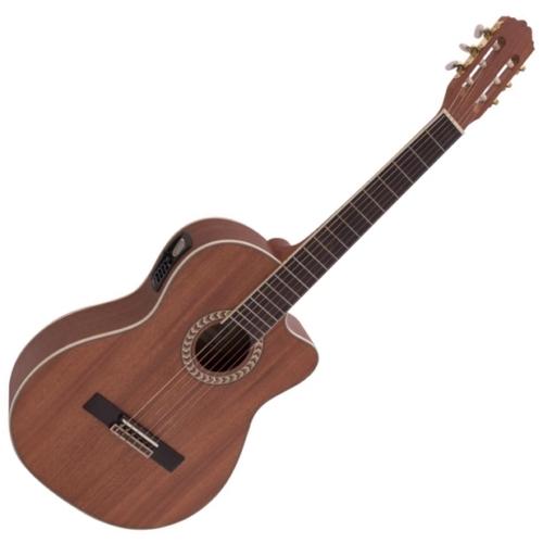 Dimavery - CN-300 Klasszikus gitár elektronikával mahagóni színben