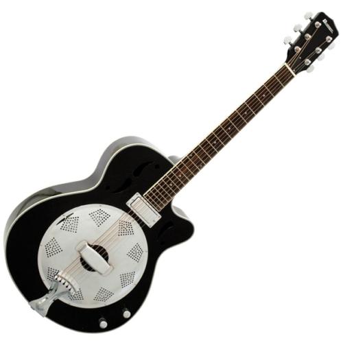 Dimavery - RS-420 Rezonátoros gitár fekete, szemből