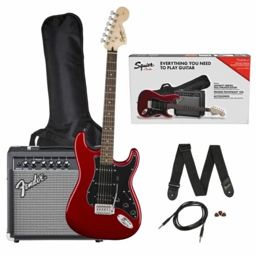 Squier - Affinity Stratocaster HSS Candy Apple Red elektromos gitár szett erősítővel