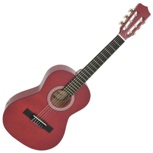 Dimavery - AC-303 1/2-es klasszikus gitár vörös színben