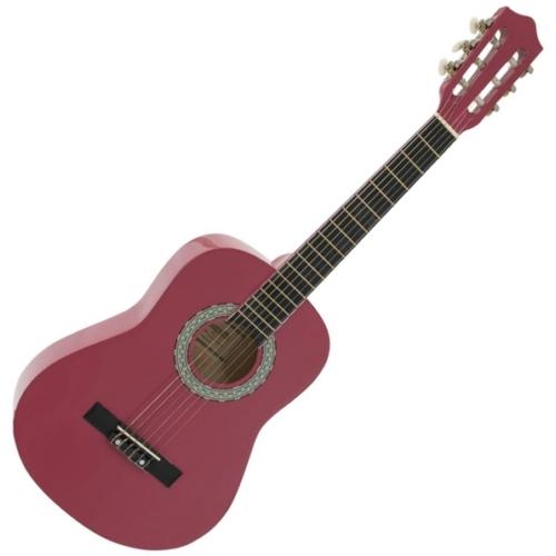 Dimavery - AC-303 1/2-es klasszikus gitár rózsaszín, szemből