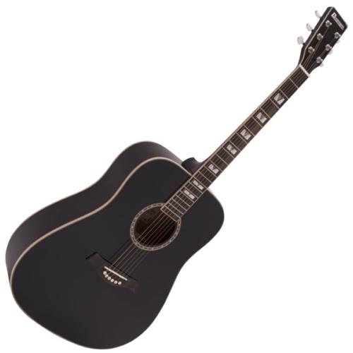 Dimavery - STW-40 Western gitár, fekete színben