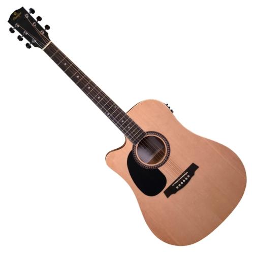 Prodipe - LH SD25 CEQ Dreadnought akusztikus gitár ajándék puhatok