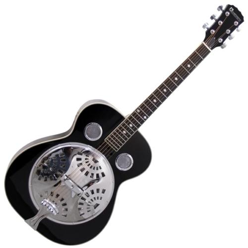 Dimavery - RS-310 Rezonátoros gitár fekete, szemből