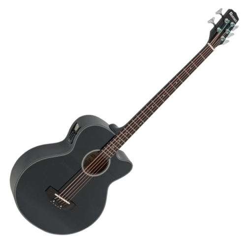 Dimavery - AB-455 Akusztikus 5 húros basszusgitár elektronikával fekete, szemből