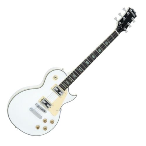 Dimavery - LP-700 elektromos gitár, hordtáskával, fehér színben