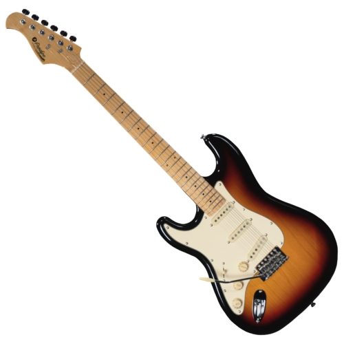 Prodipe - ST80 LH MA Sunburst 6 húros balkezes elektromos gitár ajándék puhatok