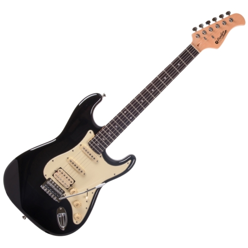 Prodipe - ST83 RA Black elektromos gitár, szemből