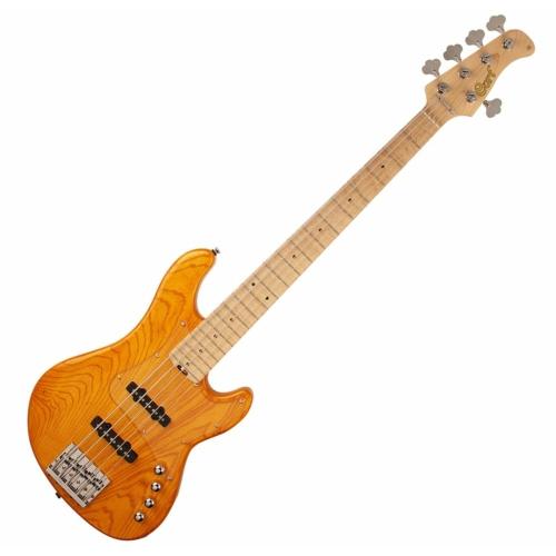 Cort - GB75JJ-AM 5 húros elektromos basszusgitár borostyán