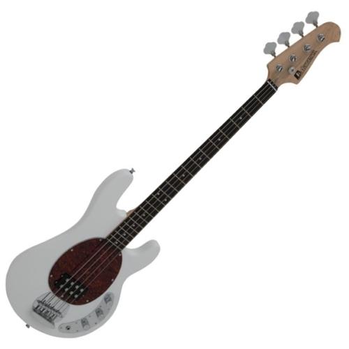 Dimavery - MM-501 E-Bass elektromos basszusgitár fehér, szemből