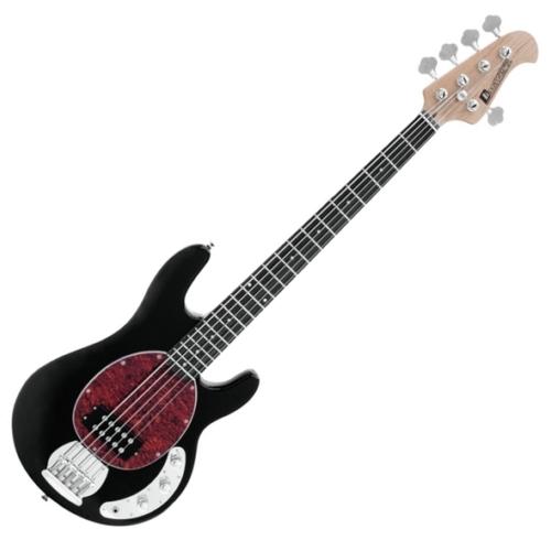 Dimavery - MM-505 E-Bass elektromos basszusgitár fekete, szemből