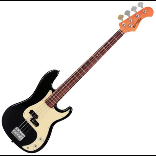 Prodipe - PB80 RA Black elektromos basszusgitár, szemből