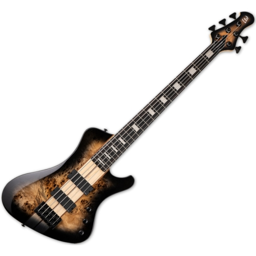 LTD - STREAM-1005 BLACK NATURAL BURST 5 húros elektromos basszusgitár ajándék félkemény tok