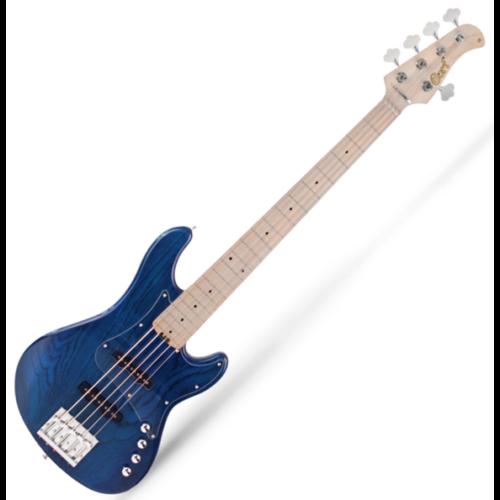Cort - GB75JJ-AB 5 húros elektromos basszusgitár vízkék