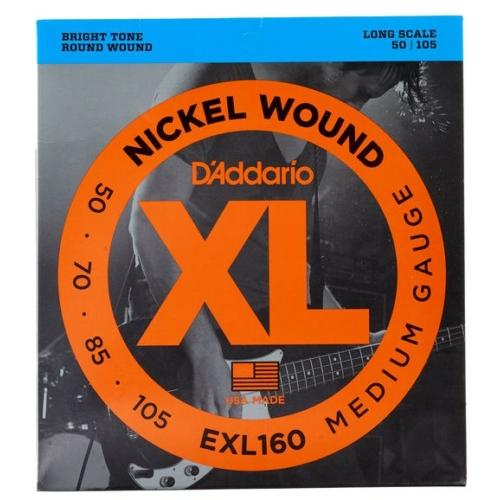 D'Addario - EXL 160 Nickel Wound Medium Gauge 50-105 elektromos basszusgitár húr