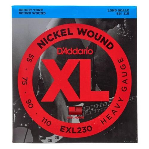 D'Addario - EXL230 Nickel Wound Heavy Gauge 55-110 elektromos basszusgitár húr