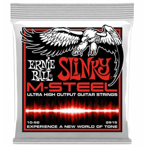 Ernie Ball - M-Steel Skinny Top Heavy Bottom Slinky 10-52 Elektromos Gitárhúr készlet