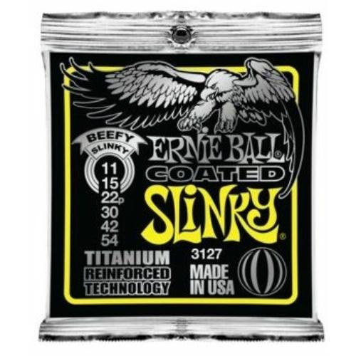 Ernie Ball - Coated Titanium RPS Beefy Slinky 11-54 Elektromos Gitárhúr készlet