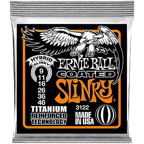 Ernie Ball - Coated Titanium RPS Hybrid Slinky 9-46 Elektromos Gitárhúr készlet