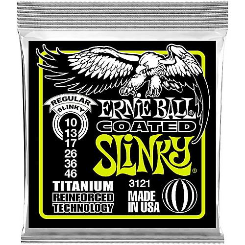 Ernie Ball - Coated Titanium RPS Regular Slinky 10-46 Elektromos Gitárhúr készlet