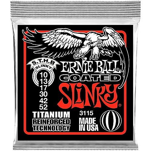 Ernie Ball - Coated Titanium RPS Skinny Top Heavy Bottom Slinky 10-52 Elektromos Gitárhúr készlet