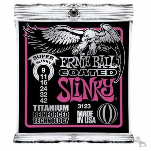 Ernie Ball - Coated Titanium RPS Super Slinky 9-42 Elektromos Gitárhúr készlet