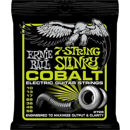 Ernie Ball - Cobalt 7 Regular Slinky 10-56 Elektromos Gitárhúr készlet 7-húros