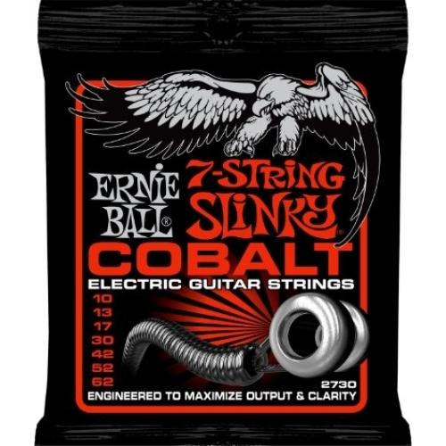 Ernie Ball - Cobalt 7 Skinny Top Heavy Bottom Slinky 10-62 Elektromos Gitárhúr készlet 7-húros