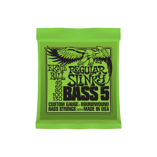 Ernie Ball - Nickel Wound Regular Slinky Bass 5 String 45-130 Elektromos Basszusgitárhúr készlet 5-húros