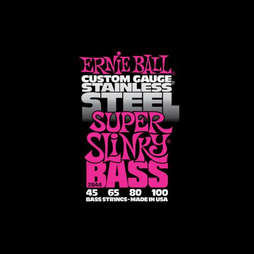 Ernie Ball - Stainless Steel Super Slinky Bass 45-100 Basszusgitárhúr készlet