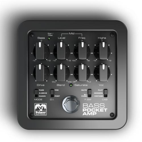 Palmer - MI Pocket Bass Amp zsebméretű basszusgitár előerősítő, szemből