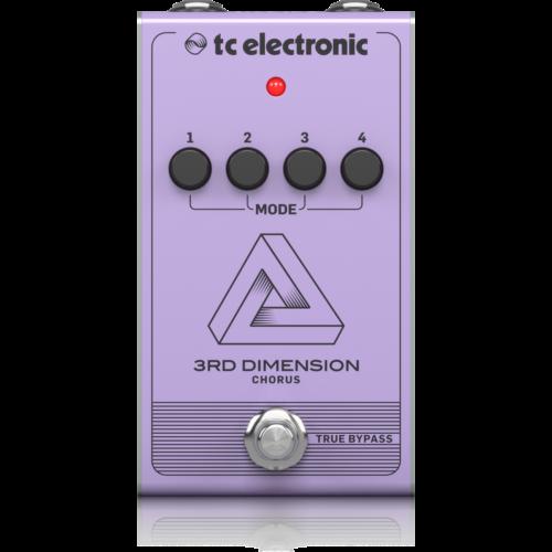 TC Electronic - 3RD Dimension Chorus effekt pedál, szemből