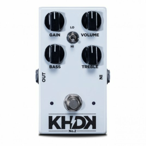 KHDK - No.2 clean boost torzitópedál gitárhoz, szemből