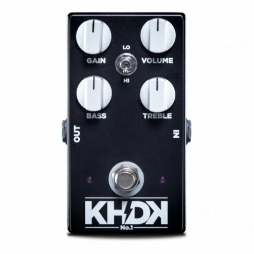 KHDK - No.1 overdrive torzítópedál gitárhoz, szemből