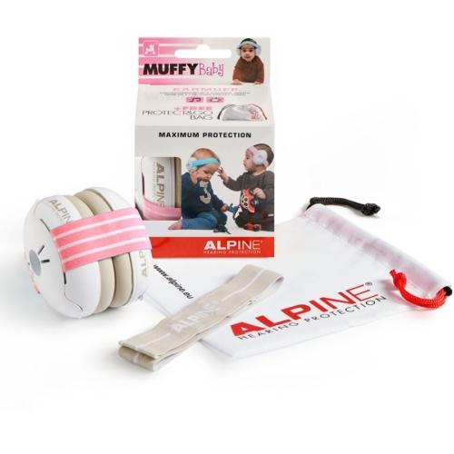 Alpine - Muffy Baby Hallásvédelem csecsemőknek Rózsaszín Készletakció