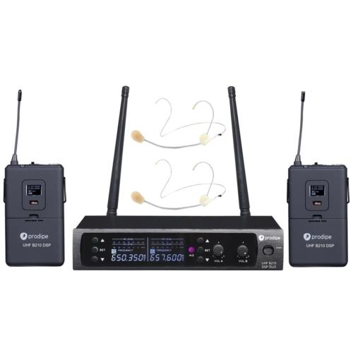Prodipe - UHF B210 DSP Headset Duo dupla fejmikrofonos szett