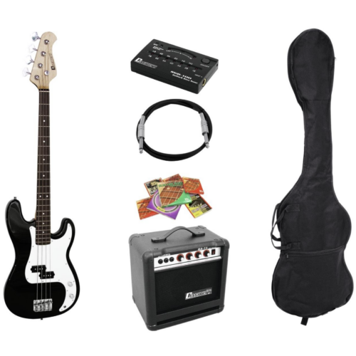 DIMAVERY - BGS-10B E-Bass-Set, black