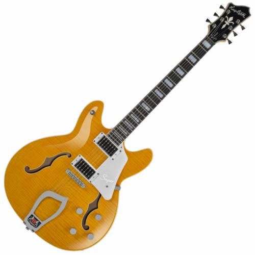 Hagstrom - Super Viking Dandy Dandelion Flame Elektromos jazz gitár