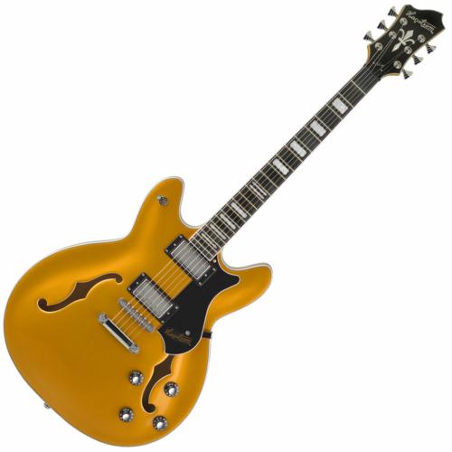 Hagstrom - Viking Gold Metallic Elektromos jazz gitár