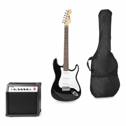 Max - GigKit Elektromos gitár szett fekete színben