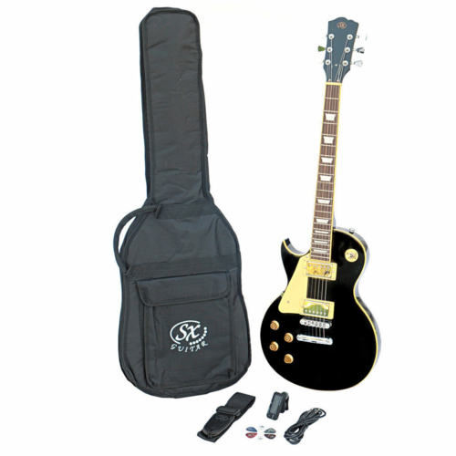 SX - SE3 Left Handed Electric Guitar Kit Black
