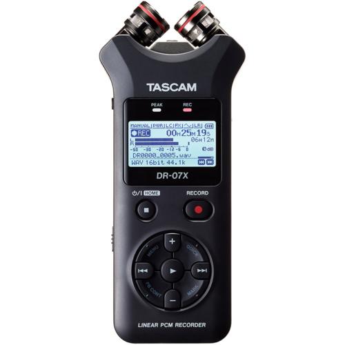 Tascam - DR-07X Hordozható 2 csatornás sztereó rögzítő és USB-interfész AB/XY mikrofonnal