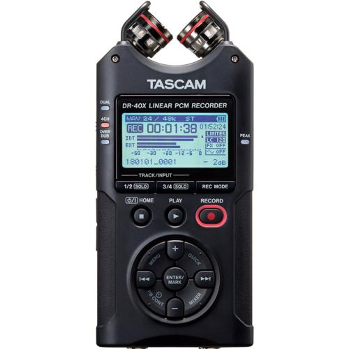 Tascam - DR-40X Hordozható 4 csatornás sztereó rögzítő és USB-interfész AB/XY mikrofonnal