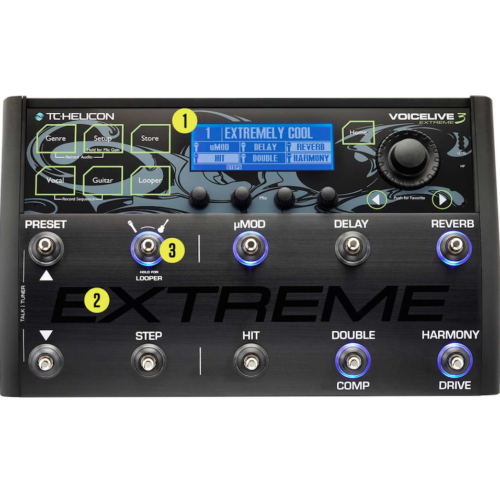 TC Helicon - VoiceLive 3 Extreme Vokál gitár effekt, looper