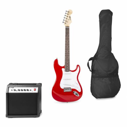 Max - GigKit Elektromos gitár szett piros színben